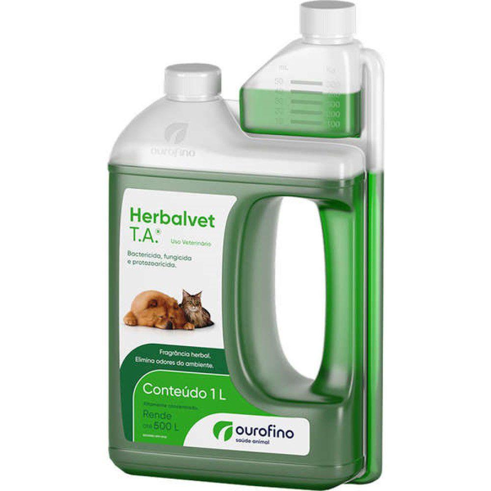 Herbalvet T.ADesinfetante Bactericida Litro - Ouro Fino