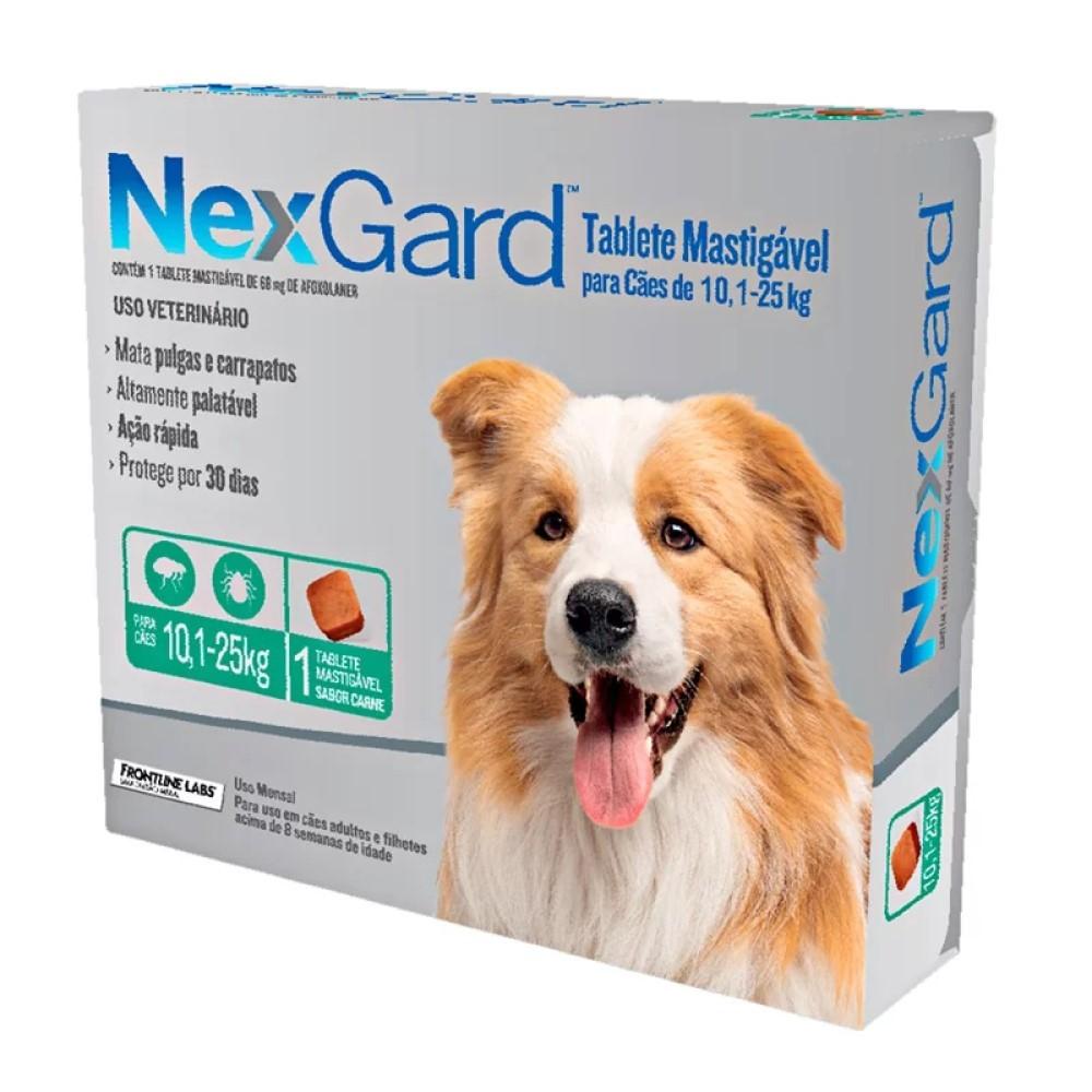 Antipulgas E Carrapatos Nexgard Para Cães De 10,1 a 25Kg Com 1 Tablete