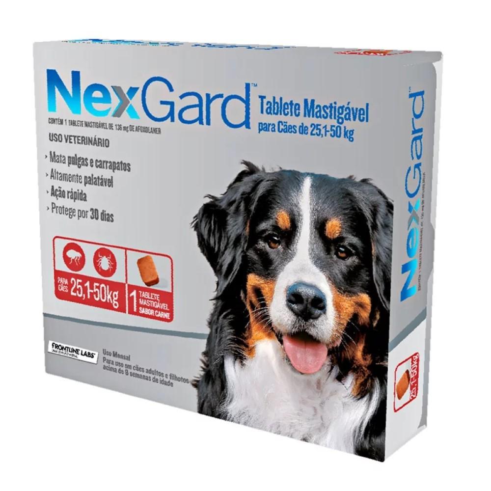 Antipulgas E Carrapatos Nexgard Para Cães De 25 a 50Kg Com 1 Tablete