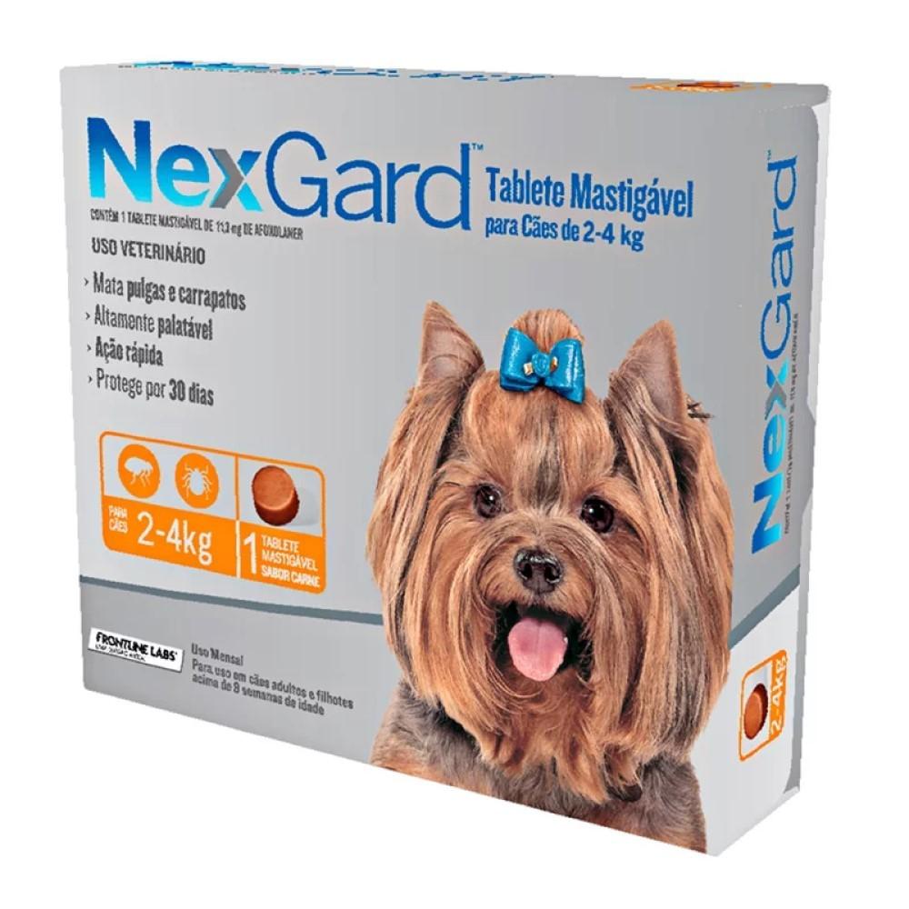 Antipulgas E Carrapatos Nexgard Para Cães De2 a 4Kg Com 1 Tablete