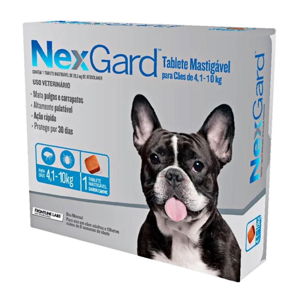 Antipulgas E Carrapatos Nexgard Para Cães De4 a 10Kg Com 1 Tabletes