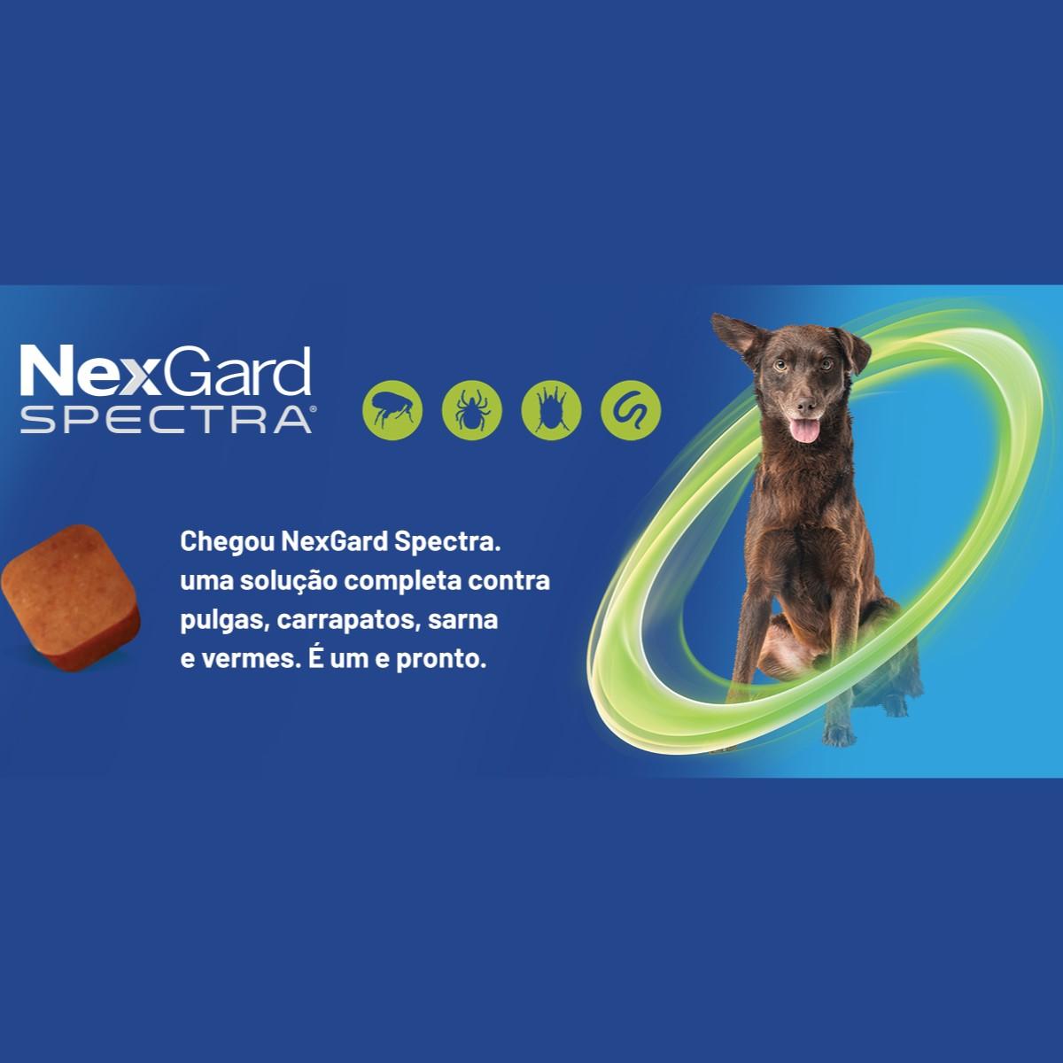 NexGard Spectra Antipulgas e Carrapatos para Caes de 7,6 a 15kg