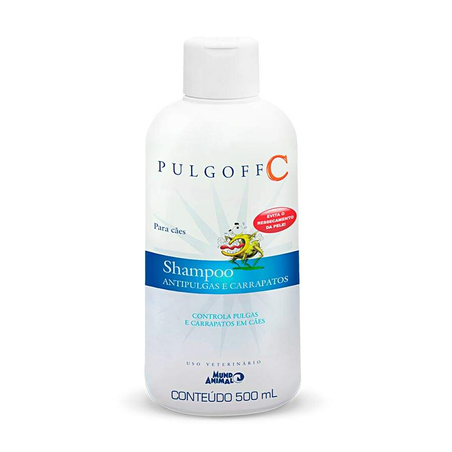 Shampo Antipulgas e Carrapatos Pulgoff 500 ml