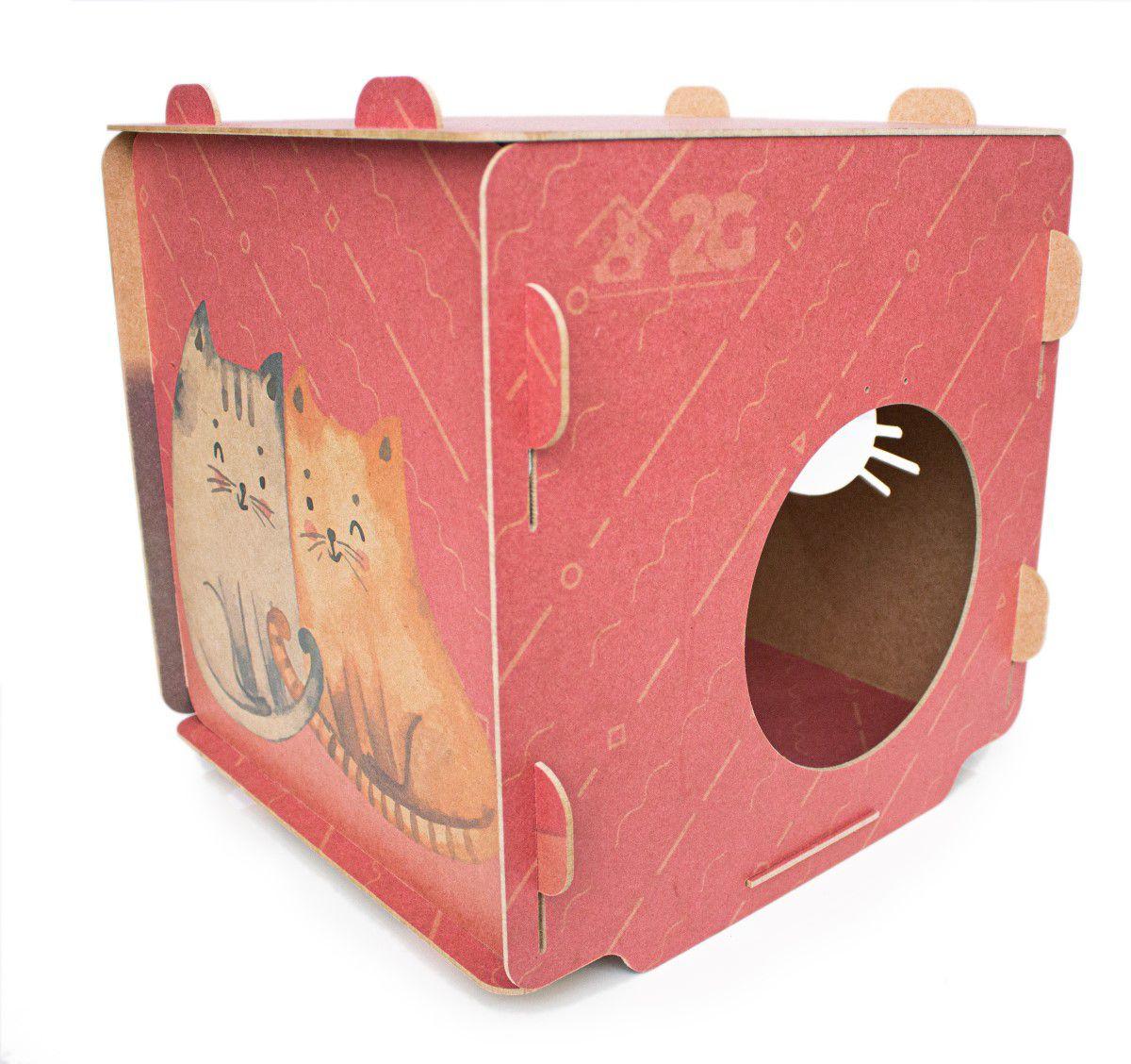 Casinha para Gatos - Cubo Vermelho