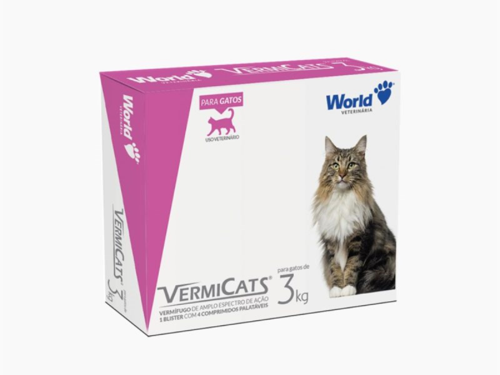 Vermicats Gatos 600 mg - 04 Comprimidos