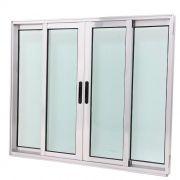 Janela de Vidro 4 folhas de Alumínio Brilhante Premium Barella Flex