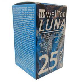 25 Tiras Reagentes em Frasco para Teste de Colesterol Luna