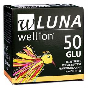 50 Tiras Reagentes em Frasco para Teste de Glicemia Luna