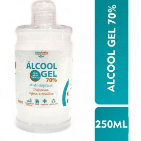 Álcool em Gel 70% 250ml - Antisséptico para As Mãos