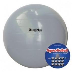 Bola p/ Exercícios Gynastic Ball 65cm c/ Dvd de Exercícios