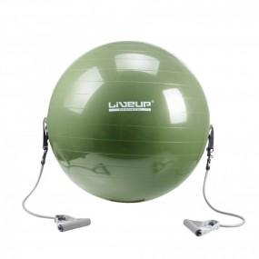 Bola Suiça para Pilates com Extensores 65cm