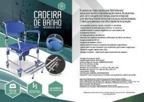 Cadeira para Higienizacao Aluminio D60 - Anti Tombo