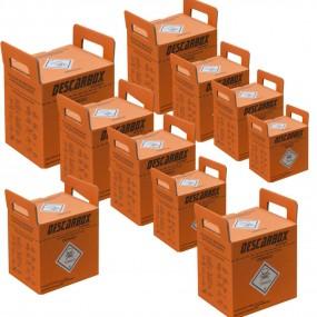 Caixa Coletora Material Perfurocortante Laranja Kit 10 Unidades