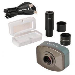 Câmera Digital para Microscopio Colorida 1.3mp com Software, Lente Redução E Lâmina Ladrão