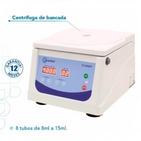 Centrífuga Digital de Bancada 8 Tubos de 10 a 15ml, Vel. 4000rpm - Bivolt
