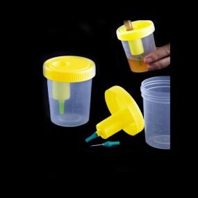 Coletor 120ml com Dispositivo de Transferência Da Urina Estéril Cx 200 Unid.