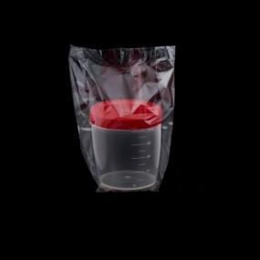 Coletor de Urina 70ml Tampa Vermelha Caixa 100 Unidades
