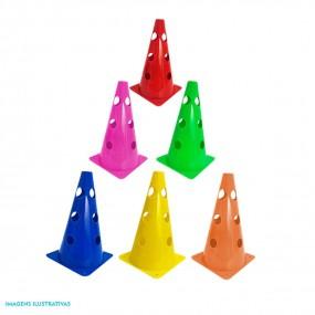 Cone 23cm Colorido Furado - 10 Unidades