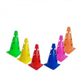 Cones 23cm 3 Furos Colorido