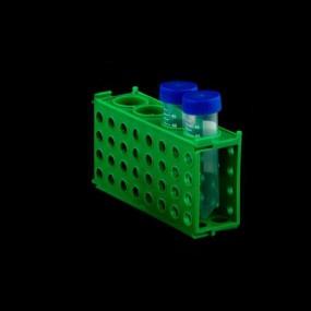Estante 4 Faces Retangular Verde 50ml/15ml/1,5ml/0,5ml