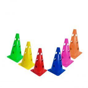 Kit 10 Cones 23cm 3 Furos Colorido