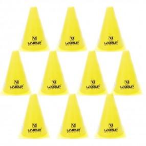 Kit 10 Cones de Agilidade 10 Unidades 18cm Liveup
