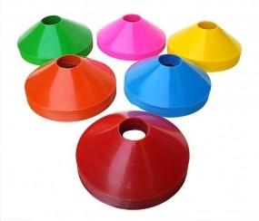 Kit 20 Mini Cones de Agilidade Treinamento Funcional + Apito