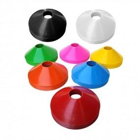 Kit Chapéu Chinês Half Cone Colorido Premium Flex - 20 Unidades