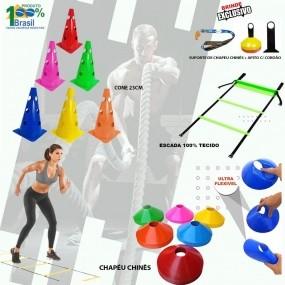 Kit Funcional Cones + Chápeu + Escada + Brindes