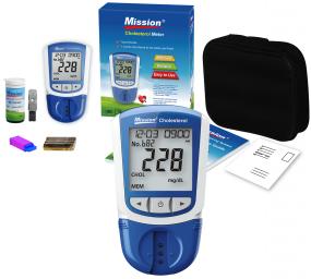 Kit Monitor de Perfil Lipídico Completo Mission + 25 Tiras