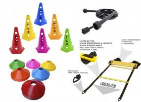 Kit p/ Funcional - Corda + Escada + 12 Cones + 12 Chapeu