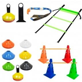 Kit p/ Treinamento Funcional - Escada + 10 Cones + 10 Chapeu