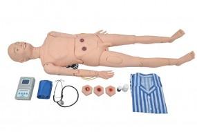 Manequim Avançado p/ Cuidados Geriátrico Masculino c/ Órgãos Interno