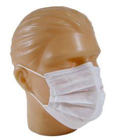 Mascara Cirurgica Tripla c/ Elastico  Cx 50un - Descarbox