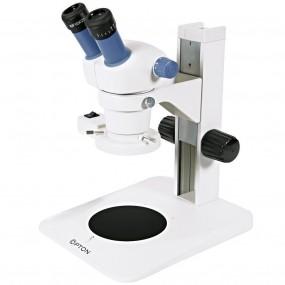 Microsc. Estereoscópico Binocular, Zoom de 0,7x até 3x , Aumento 7 X ~ 30x E Iluminação Refletida 8w Fluorescente