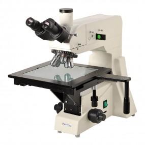 Microscópio Metalográfico Trinocular com Aumento de 50x até 1000x, Objetivas Planacromática E Iluminação 20w