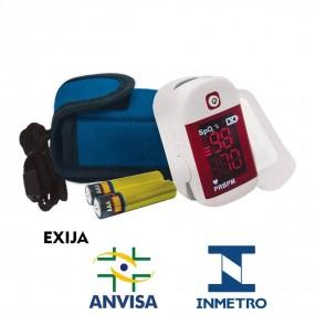 Oximetro de Pulso Dedo Dellamed Portatil + Bolsa + Cordão + Pilha