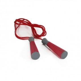 Pula Corda c/ Rolamento - Cinza/vermelho