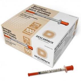 Seringa para Insulina com Agulha Cx 100un - Descarpack