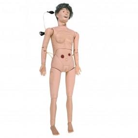 Simulador Manequim Geriátrico Bissexual Simulador Avançado para Enfermagem (vovó)