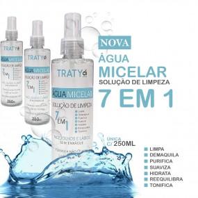 Solução de Limpeza Facial 7 em 1 - Água Micelar - 250ml - 3 Frascos