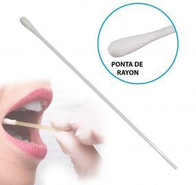 Swab com Ponta de Rayon para Diagnóstico de Covid-19