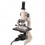 Microsc. Biológico Monocular Aumento 20x até 640x Ou 20x até 1600x E Iluminação 15w