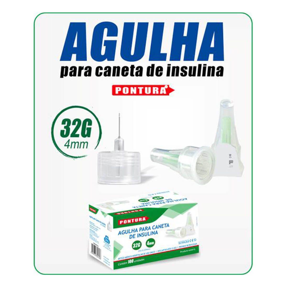 Agulha para Caneta de Insulina Pen Needle Caixa 100 Unidades