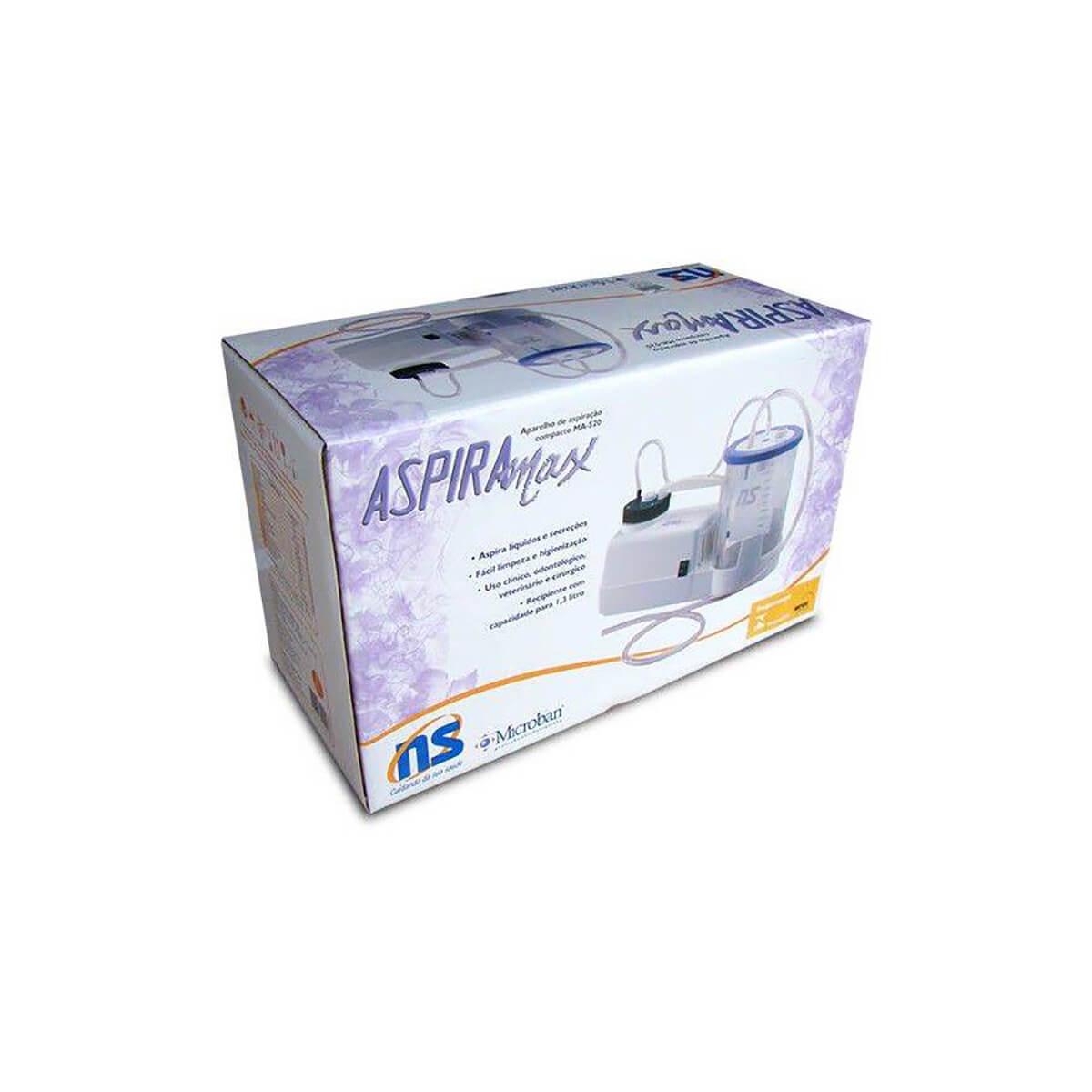 Aspirador de Secreções Aspiramax Ma-520 Bivolt