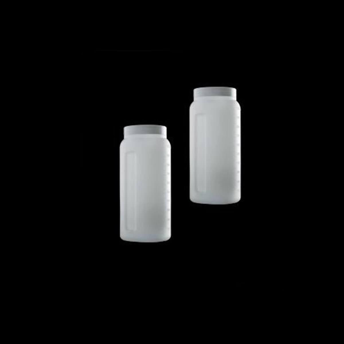 Coletor de Urina 24 Horas a Granel Translucido Tampa Branca 1 Litro sem Alça
