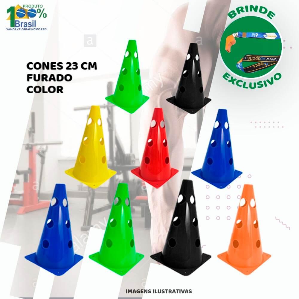 Kit 10 Cones Furado 23cm