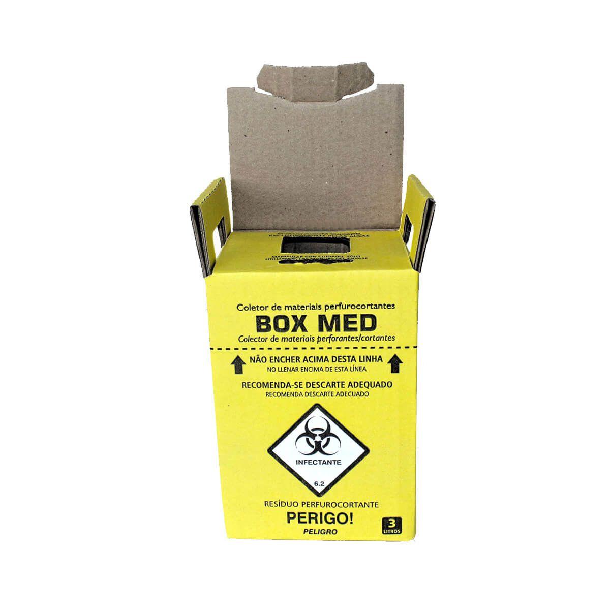 Kit 20 Caixa Coletora para Material Perfurocortante Descartável - Box Med