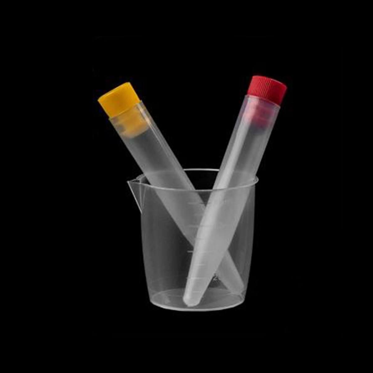 Kit de Urina 02 Tubos Pp 10ml Tampa Amarela / Vermelha Estéril
