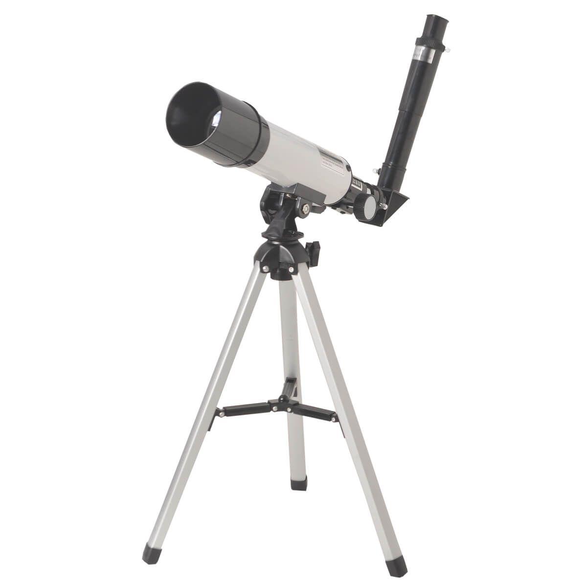 Kit Microscópio Biológico Monocular 70x Á 400x + Telescópio Astronômico 90x